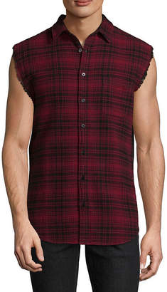 Decree Sleeveless Plaid Button-Front Shirt