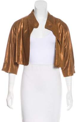 Twelfth Street By Cynthia Vincent Cropped Leather Jacket