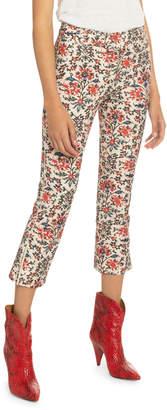 Isabel Marant Floral Print Cotton Crop Pants
