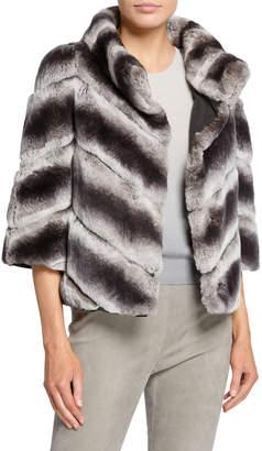 Yves Salomon Reversible Cropped Fur Coat