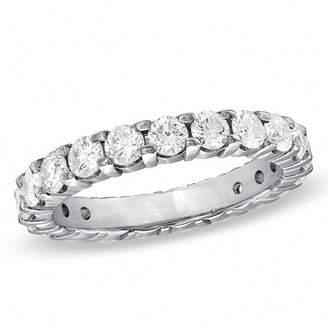 Zales 2 CT. T.W. Diamond Eternity Wedding Band in 18K White Gold (G/SI2)