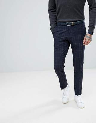 Selected Skinny Suit Trousers In Check