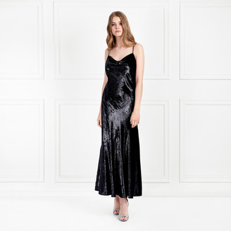 Rachel Zoe Lolita Metallic Velvet Midi-Dress