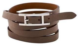 Hermes Hapi 3MM Wrap Bracelet