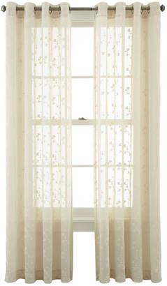 Martha Stewart MarthaWindowTM Peeking Vine Grommet-Top Sheer Panel