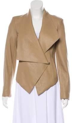 Helmut Lang Lamb Leather Cropped Jacket