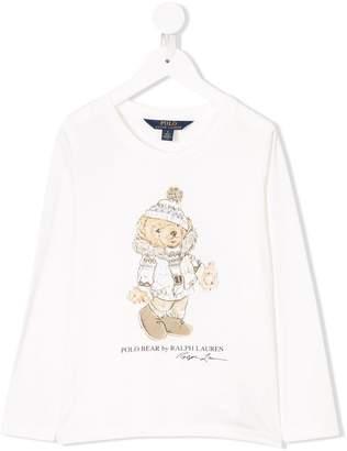 Polo Ralph Lauren teddy printed sweatshirt