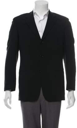 HUGO BOSS Virgin Wool Notch-Lapel Blazer black Virgin Wool Notch-Lapel Blazer