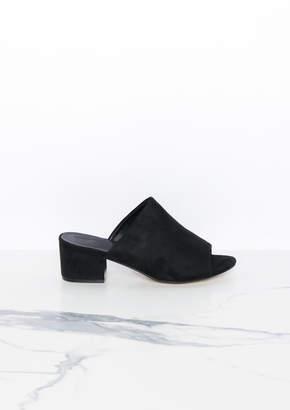 d3d1b3aa7b6 Missy Empire Missyempire Anya Black Peep Toe Mule Heels