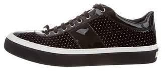 Jimmy Choo Dotted Swiss Velvet Sneakers