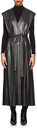 The Row Women's Nelina Belted Leather Wrap Dress