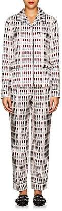 Prada Women's Lipstick-Print Silk Pajama Set