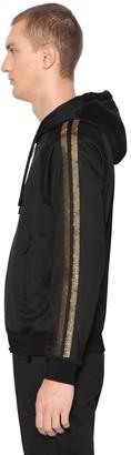DSQUARED2 Sequined Zip-up Tech Sweatshirt Hoodie