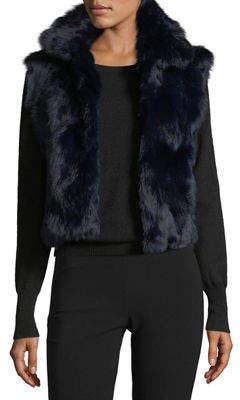 Adrienne Landau Classic Rabbit Fur Vest