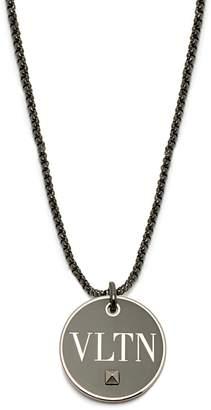 Valentino VLTN brass pendant necklace