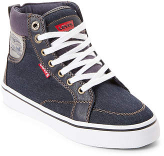 Levi's Toddler/Kids Boys) Navy Lily Denim High-Top Sneakers