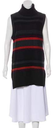 Proenza Schouler Wool-Cashmere Blend Sleeveless Turtleneck Top