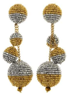 Oscar de la Renta Spinel Beaded Ball Earrings