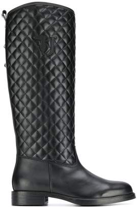 Trussardi Jeans quilted effect boots
