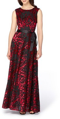 Women's Tahari Burnout Velvet Gown $229 thestylecure.com