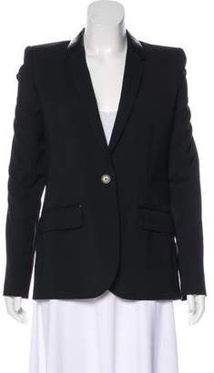 Barbara Bui Notch-Lapel Wool Blazer