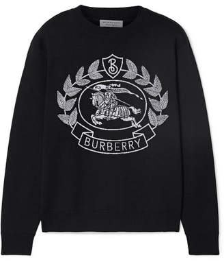 Burberry Intarsia Wool-blend Sweater