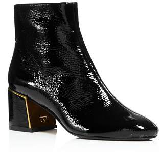 Tory Burch Women's Juliana Tumbled Patent Leather Booties