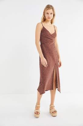 Urban Outfitters Kelly Surplice Midi Slip Dress