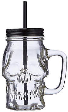 John Lewis & Partners Halloween Skull Glass Cup, Clear