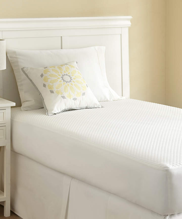 White Jacquard Mattress Protector