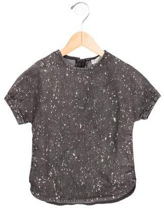 Stella McCartney Girls' Denim Printed Top w/ Tags
