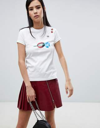 Fred Perry x Amy Winehouse Foundation Rose Lips White T-shirt
