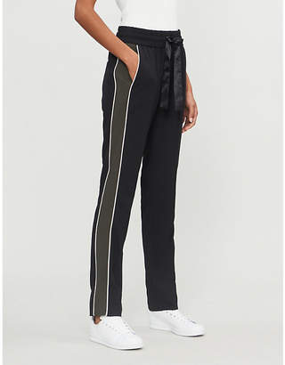 E.m. ME AND Side-stripe crepe trousers