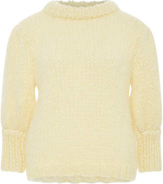 Ganni The Juliard Mohair And Wool-Blend Short Sleeve Sweater