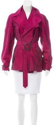 Burberry Belted Silk-Blend Jacket