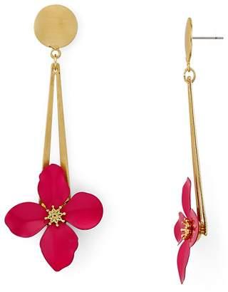 Aqua Floral Drop Earrings - 100% Exclusive