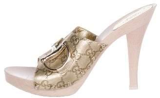 Gucci Guccissima Horsebit Sandals