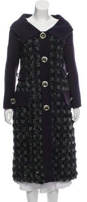 Marc Jacobs Wool Frayed Coat