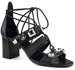 Women's Nine West 'Sowell' Crystal Embellished Ghillie Lace Sandal $88.95 thestylecure.com
