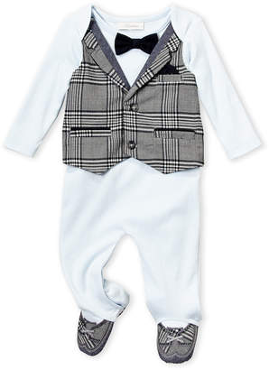 Baby Essentials Miniclasix (Newborn Boys) Plaid Vested Footie