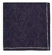 Fairfax Men's Reversible Wool Pocket Square - Purple