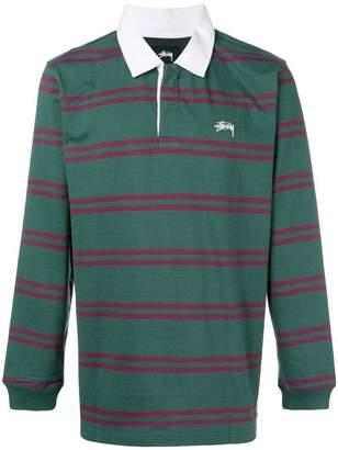 Stussy striped polo shirt