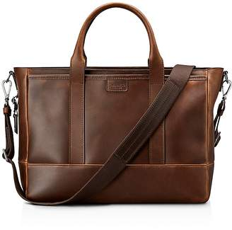 Shinola Navigator Distressed Leather Briefcase Tote