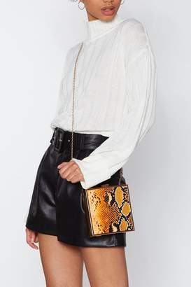 Nasty Gal WANT Get Pyth-on With It Snake Box Bag