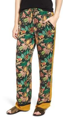Scotch & Soda Jungle Print Stripe Wide Leg Pants
