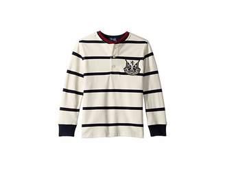 Polo Ralph Lauren Striped Cotton Mesh Henley (Little Kids/Big Kids)