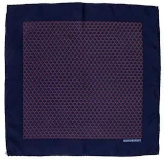 Hermes Silk Rope Print Pocket Square