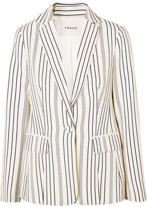 Frame Striped Crepe Blazer - Cream