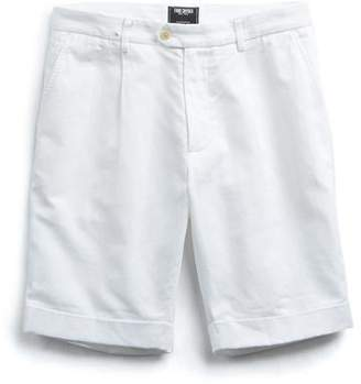 Todd Snyder Single Pleated Short in White