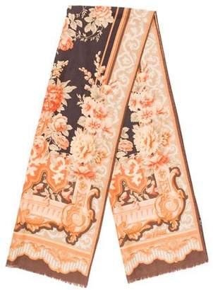 Etro Floral Wool Blend Scarf